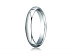 Benchmark Platinum 4mm Slightly Domed Standard Comfort-fit Ring Style number: PTCF140P