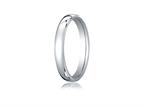 Benchmark Platinum 3.5mm European Comfort-fit Ring Style number: PTEUCF135P