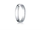 Benchmark Platinum 4.5mm European Comfort-fit Ring Style number: PTEUCF145P