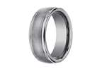 Benchmark 8mm Comfort Fit Tungsten Carbide Wedding Band / Ring Style number: RECF7802STG