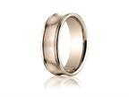 Benchmark 7.5mm Comfort-fit Satin-finished Concave Round Edge Carved Design Band Style number: RECF8750018KR