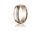 Benchmark 7.5mm Comfort-fit High Polished Double Round Edge Carved Design Band Style number: RECF8750118KR