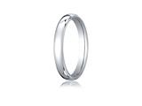 Benchmark® 10k White Gold 3.5mm European Comfort-fit Ring style: EUCF13510K