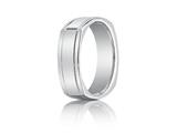 Benchmark 7mm Comfort-fit High Polished Four-sided Carved Design Band