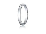 Benchmark® 10k White Gold 3mm Slightly Domed Standard Comfort-fit Ring style: LCF13010K