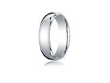 Benchmark® Palladium 6mm Slightly Domed Standard Comfort-fit Ring style: LCF160PD