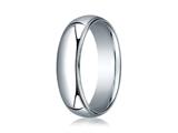 Benchmark® 18k White Gold 6mm Slightly Domed Standard Comfort-fit Ring With Milgrain style: LCF36018K