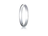 Benchmark® Platinum 2.5mm Traditional Dome Oval Ring style: PT125P