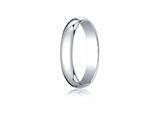 Benchmark® Platinum 4.0mm Traditional Dome Oval Ring style: PT140P