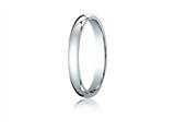 Benchmark® Platinum 3mm Slightly Domed Standard Comfort-fit Ring style: PTCF130P