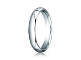 Benchmark® Platinum 4mm Slightly Domed Standard Comfort-fit Ring style: PTCF140P