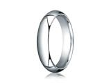 Benchmark® Platinum 5mm Slightly Domed Standard Comfort-fit Ring style: PTCF150P