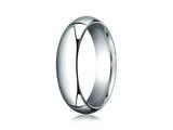 Benchmark® Platinum 6mm Slightly Domed Standard Comfort-fit Ring style: PTCF160P