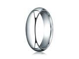 Benchmark® Platinum 6mm Slightly Domed Standard Comfort-fit Ring style: PTCF160P