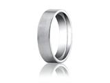 Benchmark Platinum 6mm Comfort-fit Satin-finished Carved Design Band