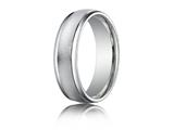 Benchmark® Platinum 6mm Comfort-fit Wired-finished High Polished Round Edge Carved Design Band style: PTRECF7602P