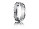 Benchmark® Platinum 6mm Comfort-fit Satin-finished High Polished Round Edge Carved Design Band