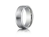 Benchmark® Platinum 8mm Comfort-fit Satin-finished High Polished Round Edge Carved Design Band