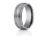 Benchmark 8mm Comfort Fit Tungsten Carbide Wedding Band / Ring