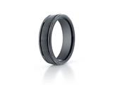 Benchmark Ceramic 6mm Comfort-fit Satin-finished Round Edge Design Ring