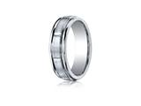 Benchmark® Cobalt Chrome™ 7mm Comfort-fit Satin-finished Round Edge Design Ring style: RECF77452CC