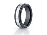 Benchmark® 7mm Tungsten Forge® Wedding Ring with Seranite Edge