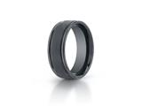 Benchmark® Ceramic 8mm Comfort-fit Satin-finished Round Edge Design Ring style: RECF7802SCM