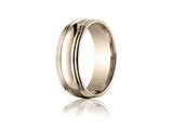 Benchmark® 7.5mm Comfort-fit High Polished Double Round Edge Carved Design Band