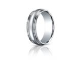 Benchmark 7.5mm Comfort-fit High Polished With Milgrain Double Round Edge Carved Design Band