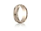 Benchmark® 7.5mm Comfort-fit Satin-finished With Milgrain Double Round Edge Carved Design Band style: RECF8750418KR