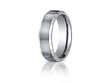 Benchmark® Titanium  7mm Comfort-fit Satin-finished With High Polished Beveled Edge Carved Design Band style: TICF67416