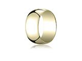 Benchmark 14k Gold 10.0mm Traditional Dome Oval Ring