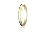 Benchmark® 14k Gold 2.5mm Traditional Dome Oval Ring style: 125