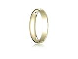Benchmark® 14k Gold 4.0mm Traditional Dome Oval Ring