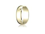 Benchmark 14k Gold 7.0mm Traditional Dome Oval Ring