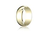 Benchmark® 14k Gold 7.0mm Traditional Dome Oval Ring