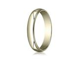 Benchmark® 18k Gold 4.0mm Traditional Dome Oval Ring With Milgrain
