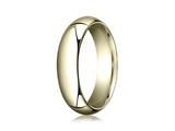 Benchmark® 14k Gold 6.0mm High Dome Heavy Comfort-fit Ring