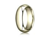 Benchmark 14k Gold 7.0mm High Dome Heavy Comfort-fit Ring