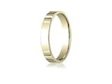 Benchmark® 14k Gold 4.0mm Flat Comfort-fit Ring