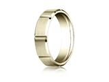 Benchmark 6mm Comfort-fit Satin-finished Grooves Carved Design Band