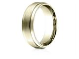 Benchmark® 10k Gold 7mm Comfort-fit Satin-finished With High Polished Drop Edge Carved Design Band style: CF6735110K
