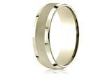 Benchmark® 10 Karat Gold 7mm Comfort-fit High Polish Round Edge Cross Hatch Center Design Band style: CF6746910K