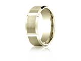 Benchmark 8mm Comfort-fit Satin-finished Grooves Carved Design Band