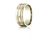 Benchmark® 8mm Comfort-fit Satin-finished Carved Design Band
