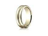 Benchmark® 4.5mm Comfort-fit High Polished Double-domed Carved Design Band