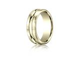Benchmark® 7.5mm Comfort-fit Satin-finished High Polished Center Cut Carved Design Band style: CF717505