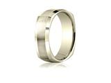 Benchmark® 7mm Comfort-fit Satin-finished Four-sided Carved Design Band