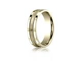 Benchmark® 6mm Comfort-fit Satin-finished Center With Milgrain And Squared Edge Carved Design Band style: CFSE7601S18K