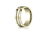 Benchmark® 8mm Comfort-fit High Polished Center With Milgrain And Squared Edge Carved Design Band